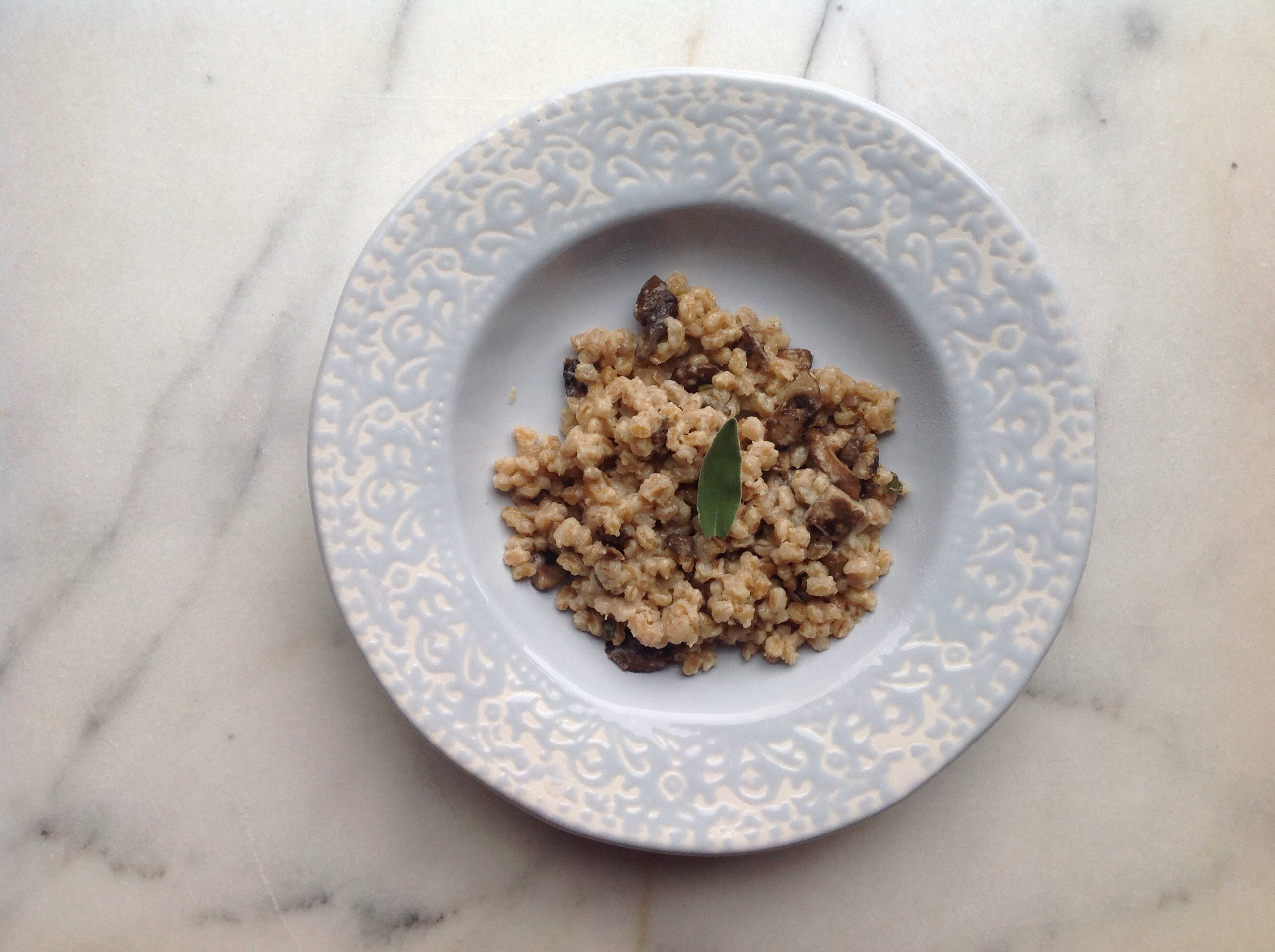 Oven Baked Mushroom Farro Risotto | a pleasant little kitchen