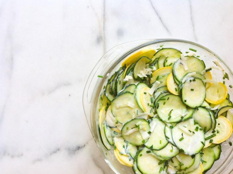 zucchini and leek buttermilk ranch salad bowl