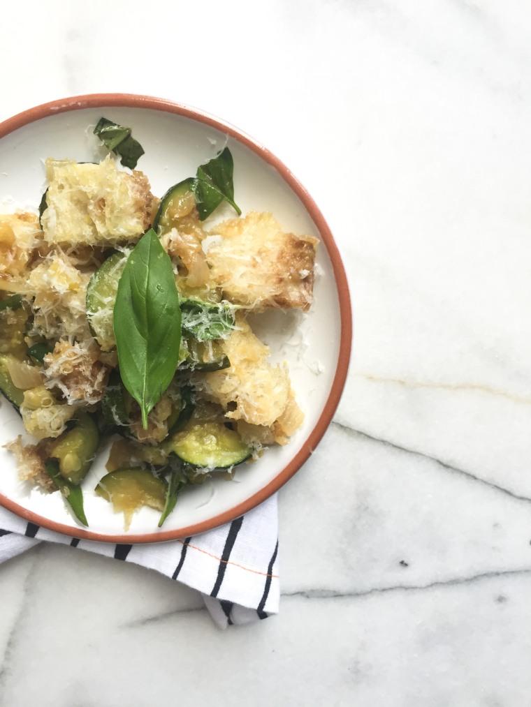 zucchini panzanella