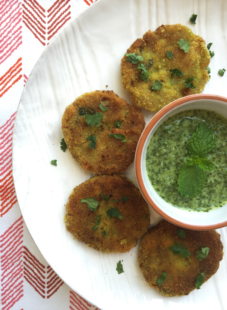 veggie cutlet mint chutney arrows