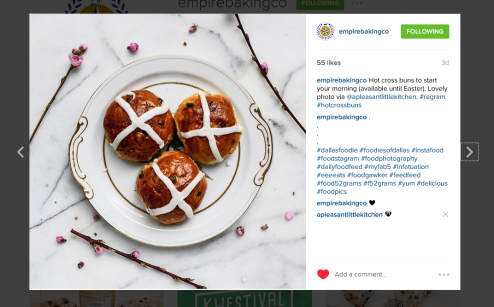 empirebaking regram hot cross buns