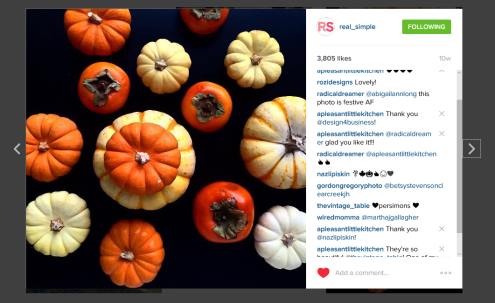 Real Simple Regram Persimmons and Pumpkins