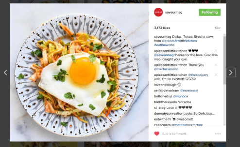 Saveur Regram Slaw and Egg