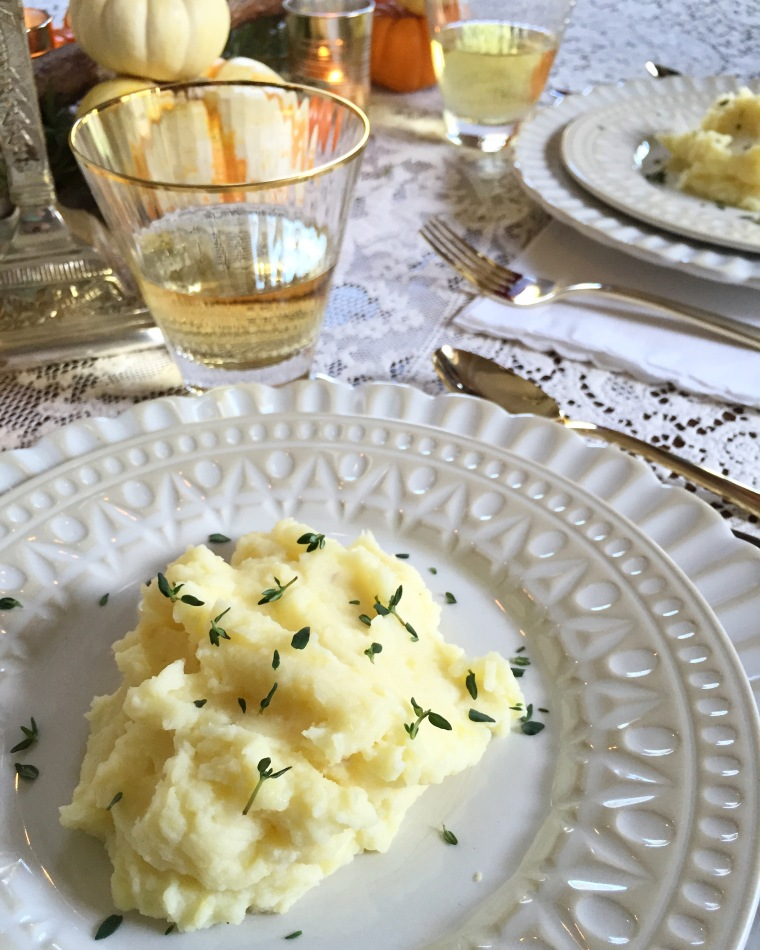 creme fraiche mashed potatoes