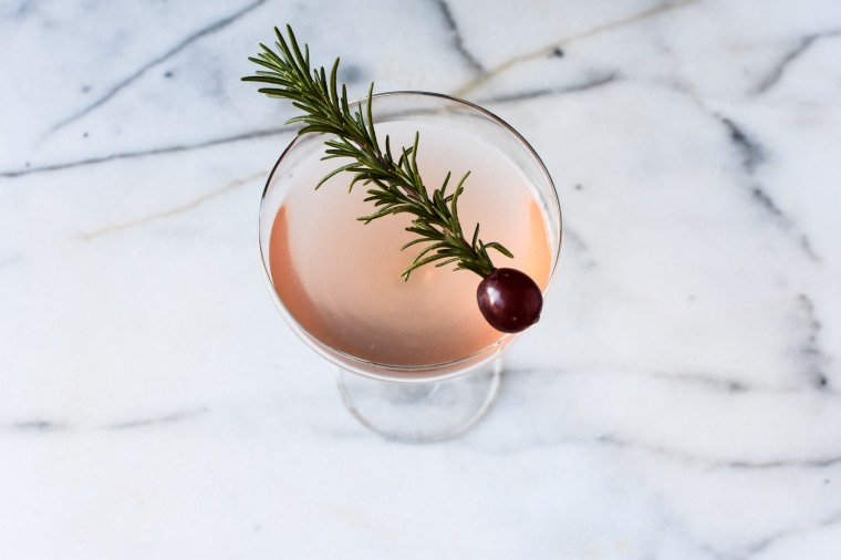 gin and grape rosemary rose