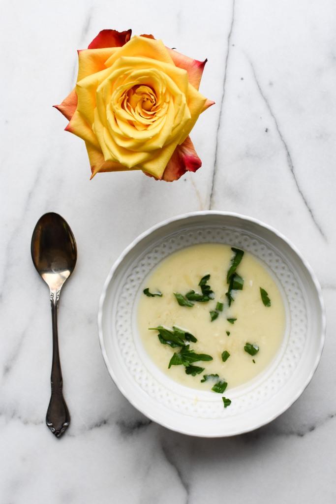lemon orzo egg soup