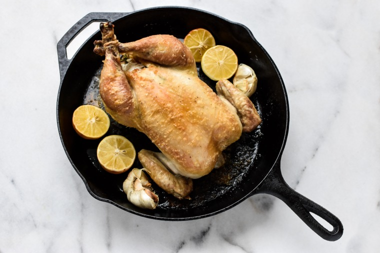chicken and lemons