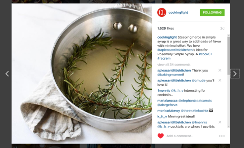 Cooking Light Regram Rosemary Syrup