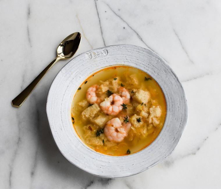 shrimp and leek soup sideways ii