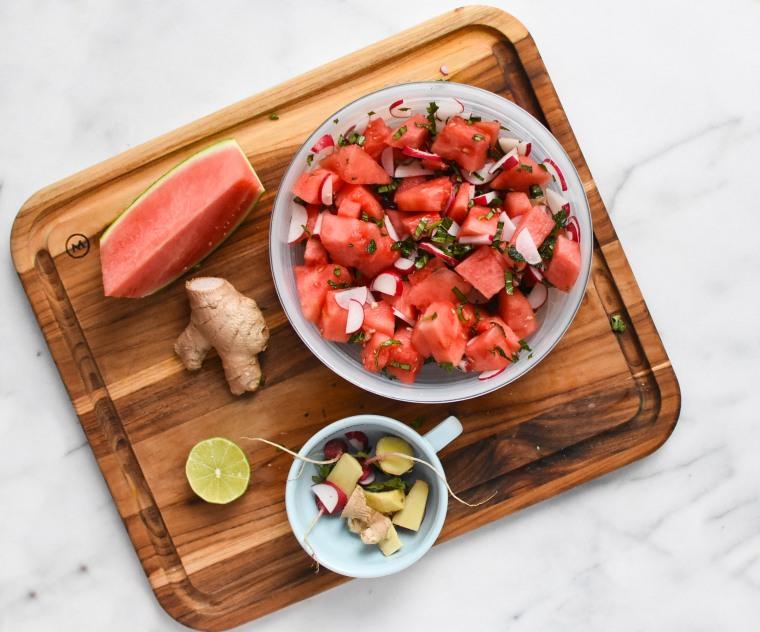 salad and ingredients iii