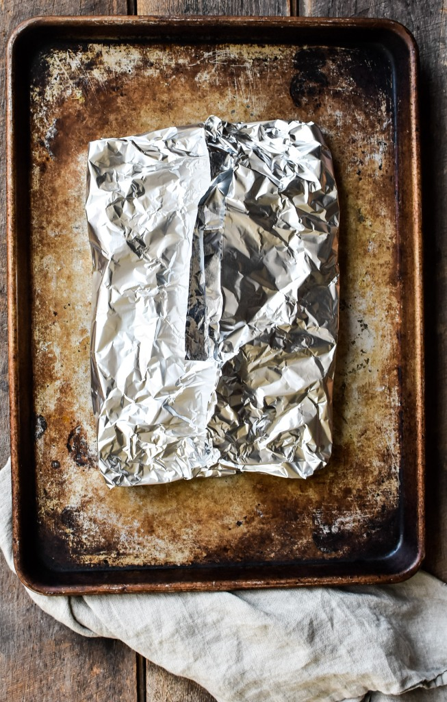 steak wrapped in foil i
