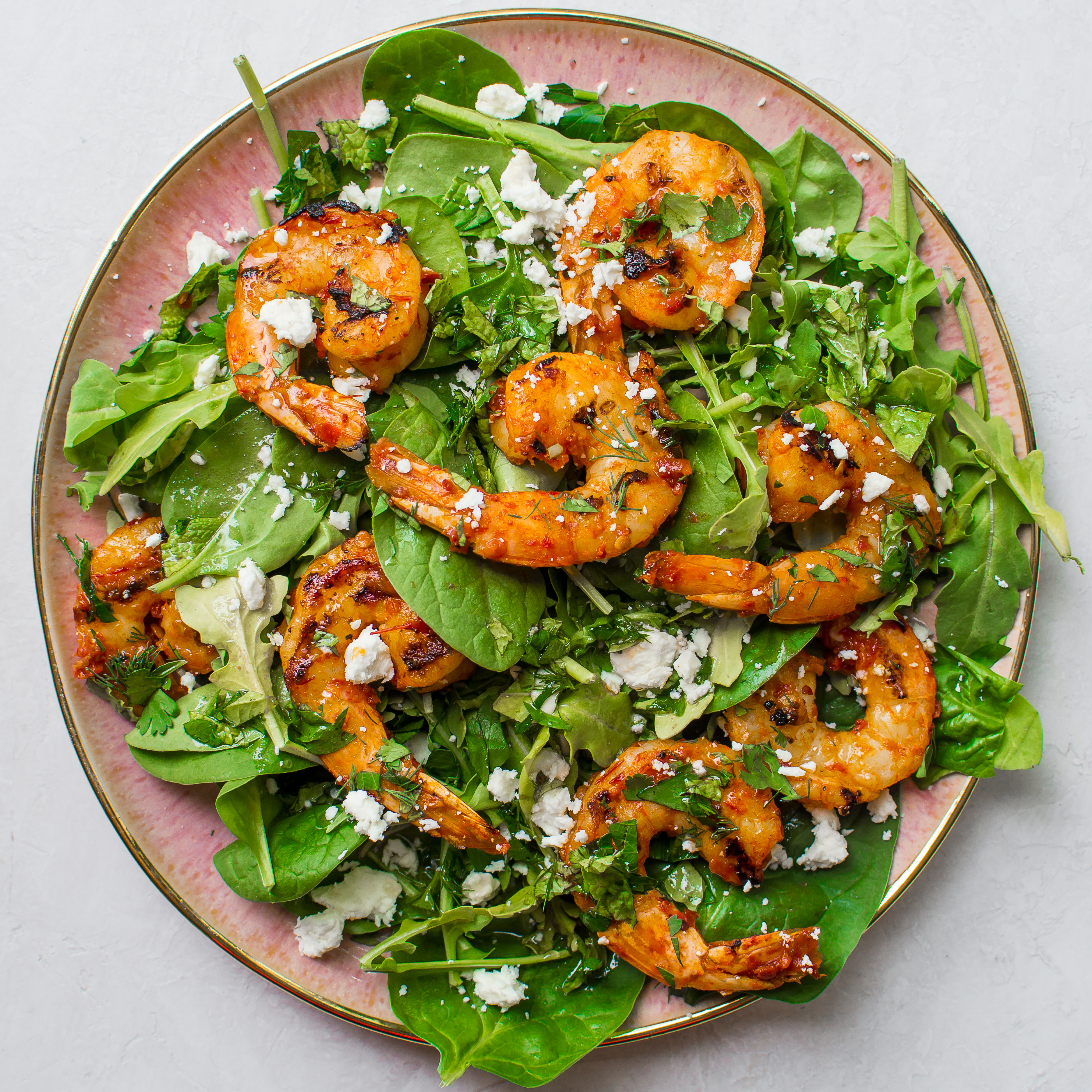 Cold Harissa Shrimp Salad With Herbs And Goat Cheese